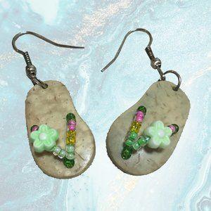 Boutique Shell Handmade Flip Flop Earrings